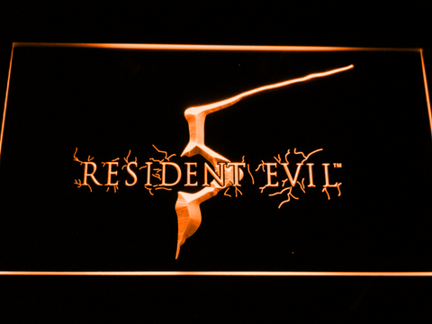 Image of Resident Evil 5 LED Neon Sign - Orange - SafeSpecial