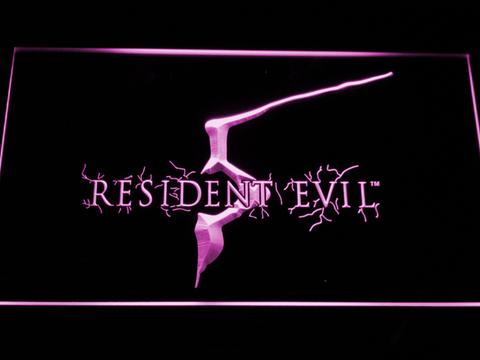 Image of Resident Evil 5 LED Neon Sign - Purple - SafeSpecial