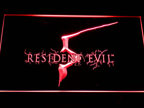 Image of Resident Evil 5 LED Neon Sign - Red - SafeSpecial