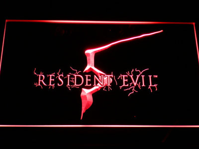 Resident Evil 5 LED Neon Sign - Red - SafeSpecial