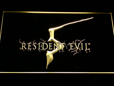 Resident Evil 5 LED Neon Sign - Yellow - SafeSpecial