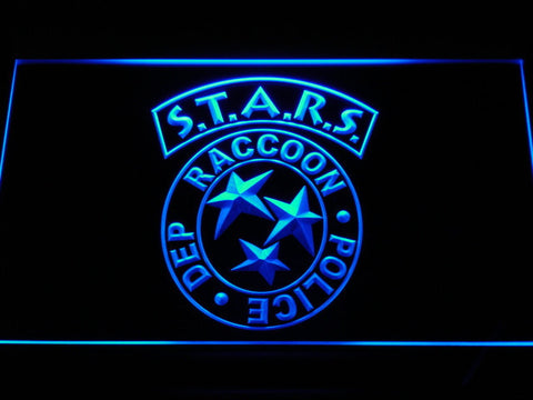 Resident Evil STARS LED Neon Sign - Blue - SafeSpecial