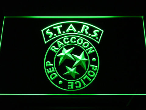 Resident Evil STARS LED Neon Sign - Green - SafeSpecial