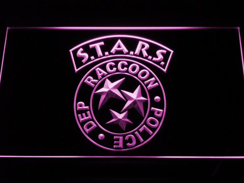 Resident Evil STARS LED Neon Sign - Purple - SafeSpecial