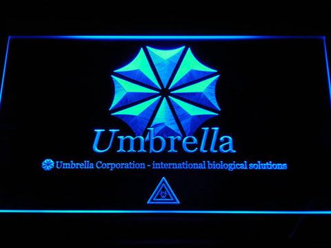 Resident Evil Umbrella Corporation LED Neon Sign - Blue - SafeSpecial