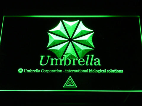 Resident Evil Umbrella Corporation LED Neon Sign - Green - SafeSpecial