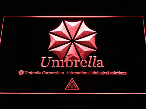 Resident Evil Umbrella Corporation LED Neon Sign - Red - SafeSpecial