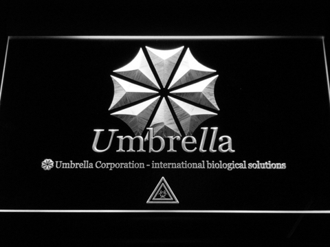 Resident Evil Umbrella Corporation LED Neon Sign - White - SafeSpecial