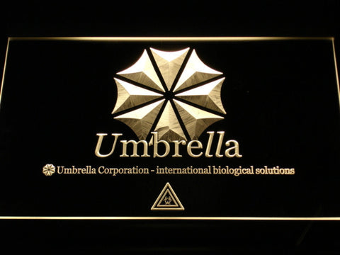 Resident Evil Umbrella Corporation LED Neon Sign - Yellow - SafeSpecial