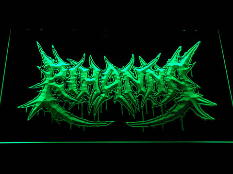 Rihanna Death Metal VMA Logo LED Neon Sign - Green - SafeSpecial