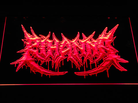 Rihanna Death Metal VMA Logo LED Neon Sign - Red - SafeSpecial