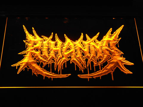 Rihanna Death Metal VMA Logo LED Neon Sign - Yellow - SafeSpecial