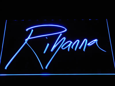 Rihanna LED Neon Sign - Blue - SafeSpecial