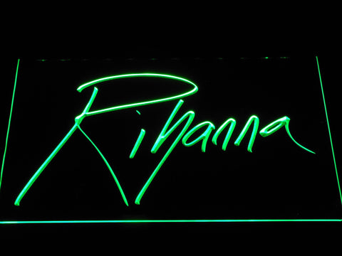 Rihanna LED Neon Sign - Green - SafeSpecial