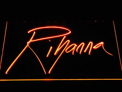 Rihanna LED Neon Sign - Orange - SafeSpecial