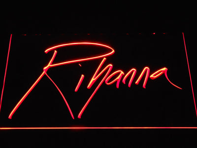 Rihanna LED Neon Sign - Red - SafeSpecial