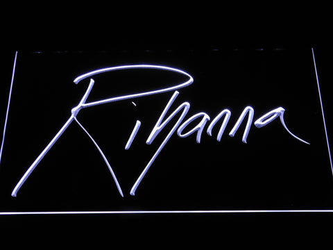 Image of Rihanna LED Neon Sign - White - SafeSpecial