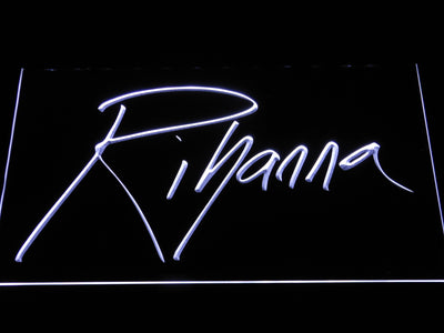Rihanna LED Neon Sign - White - SafeSpecial