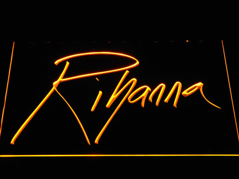 Image of Rihanna LED Neon Sign - Yellow - SafeSpecial
