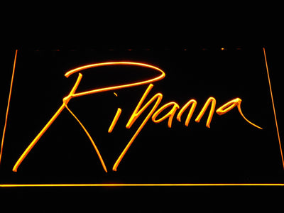 Rihanna LED Neon Sign - Yellow - SafeSpecial