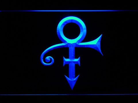 RIP - Prince Symbol LED Neon Sign - Blue - SafeSpecial