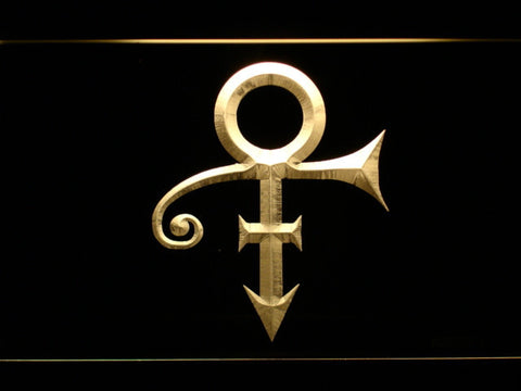 RIP - Prince Symbol LED Neon Sign - Yellow - SafeSpecial