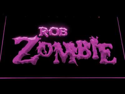 Rob Zombie LED Neon Sign - Purple - SafeSpecial