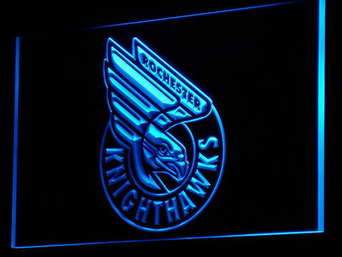 Rochester Knighthawks LED Neon Sign - Blue - SafeSpecial