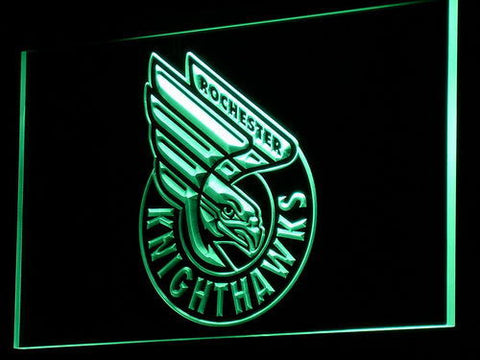 Rochester Knighthawks LED Neon Sign - Green - SafeSpecial