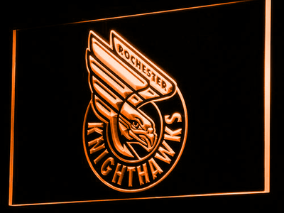 Rochester Knighthawks LED Neon Sign - Orange - SafeSpecial
