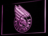 Rochester Knighthawks LED Neon Sign - Purple - SafeSpecial