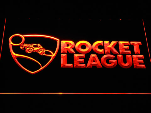 Rocket League LED Neon Sign - Orange - SafeSpecial