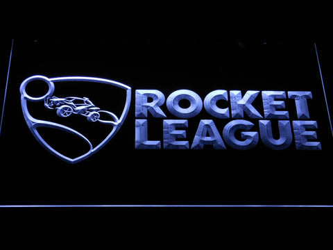 Rocket League LED Neon Sign - White - SafeSpecial