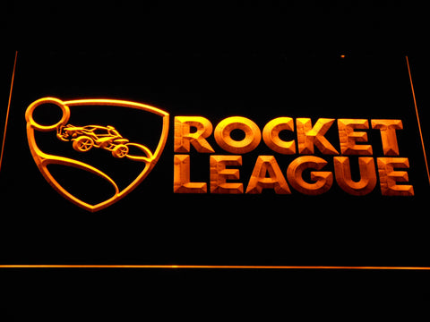 Image of Rocket League LED Neon Sign - Yellow - SafeSpecial