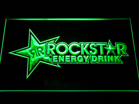 Image of Rockstar Energy Drink LED Neon Sign - Green - SafeSpecial
