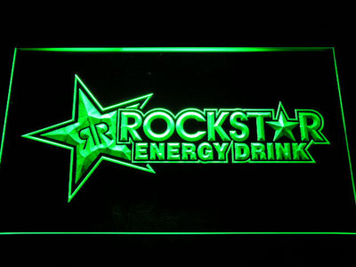 Rockstar Energy Drink LED Neon Sign - Green - SafeSpecial