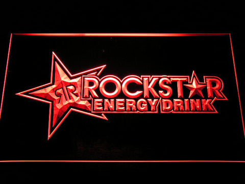 Image of Rockstar Energy Drink LED Neon Sign - Red - SafeSpecial