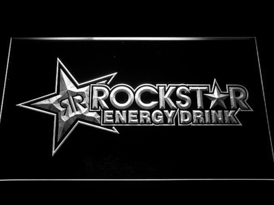 Rockstar Energy Drink LED Neon Sign - White - SafeSpecial