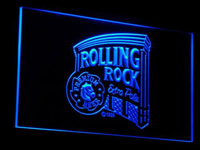 Rolling Rock Extra Pale LED Neon Sign - Blue - SafeSpecial