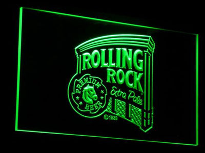 Rolling Rock Extra Pale LED Neon Sign - Green - SafeSpecial