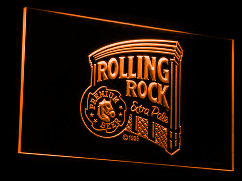 Rolling Rock Extra Pale LED Neon Sign - Orange - SafeSpecial