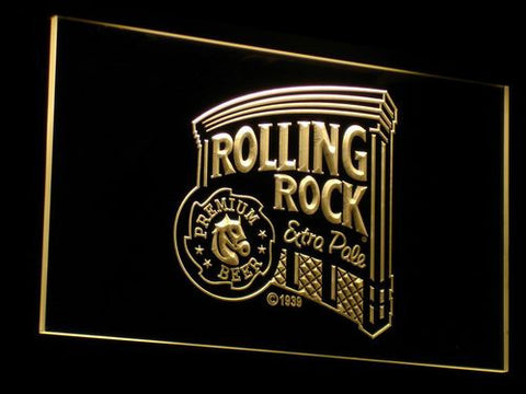 Rolling Rock Extra Pale LED Neon Sign - Yellow - SafeSpecial