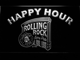 Rolling Rock Happy Hour LED Neon Sign - White - SafeSpecial