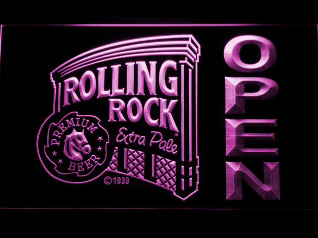 Rolling Rock Open LED Neon Sign