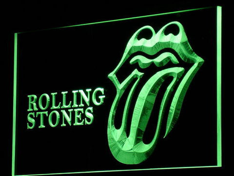 Rolling Stones LED Neon Sign - Green - SafeSpecial