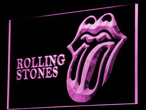 Rolling Stones LED Neon Sign - Purple - SafeSpecial