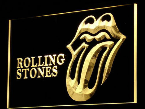Rolling Stones LED Neon Sign - Yellow - SafeSpecial