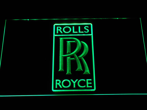 Image of Rolls-Royce LED Neon Sign - Green - SafeSpecial