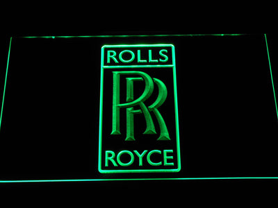 Rolls-Royce LED Neon Sign - Green - SafeSpecial