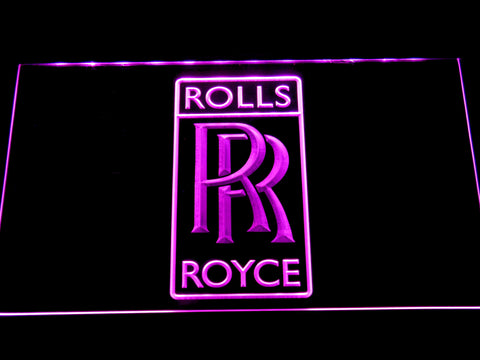 Image of Rolls-Royce LED Neon Sign - Purple - SafeSpecial